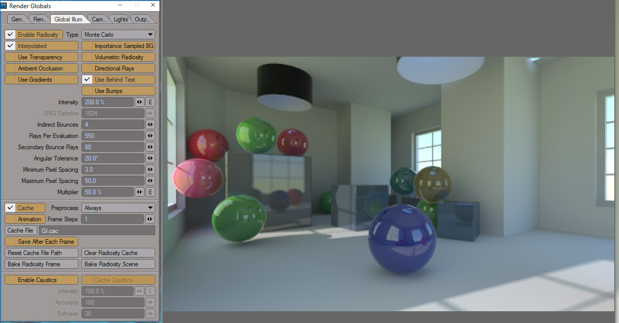 GI Setup, Flicker Free Global Illumination