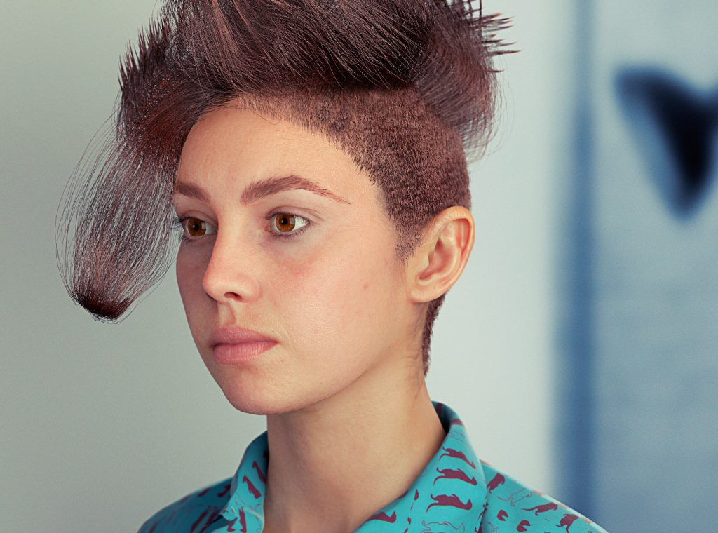 Digital Emily, 3D Skin Shader, Hair 3D.