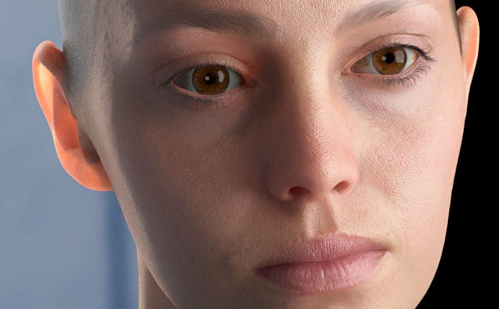 Realistyczna skóra 3D. SSS, Skin 3D.