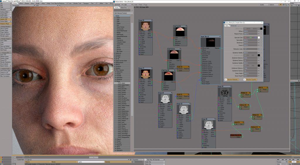 skin shader, SSS, Skin 3D.